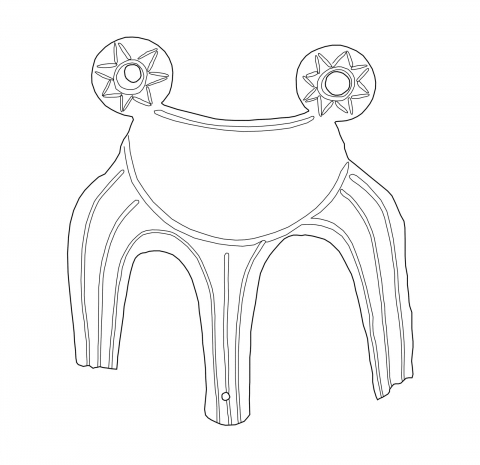 Figure 2. Miniature tripod of sheet bronze from the Samian Heraion (drawing author).