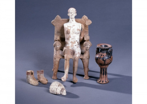 Figure 5. Grave assemblage from Athens. © Trustees of the British Museum.