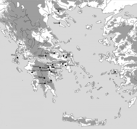 Figure 1. Greece, map showing sites mentioned in the text.