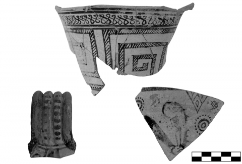 Figure 4. Fragments of archaic East Greek jugs from the sanctuary of Sane (scale 1:2).