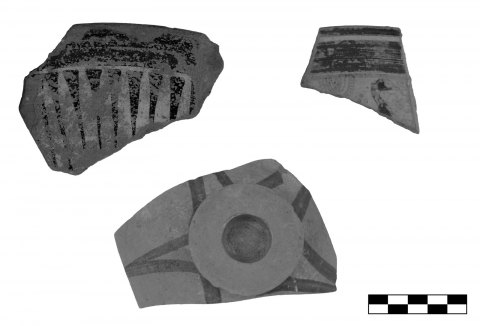 Figure 5. Fragments of archaic East Greek stemmed dishes from the sanctuary of Sane (scale 1:2).