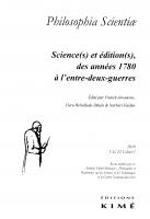 Couverture Philosophia Scientiae 22-1