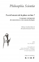 Couverture Philosophia Scientiae 23-1