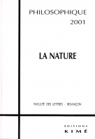 couverture Philosophique La Nature