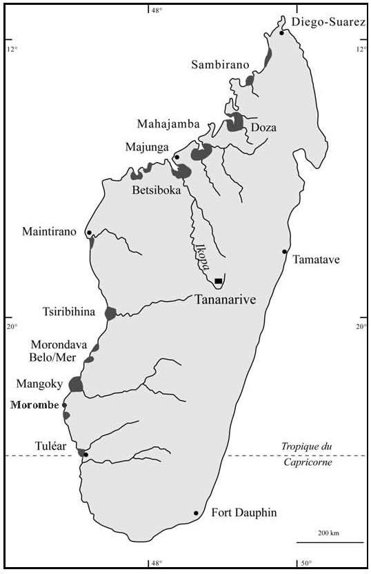 Carte Miniere De Madagascar Pdf.L Accretion Littorale Sur La Cote Ouest De Madagascar