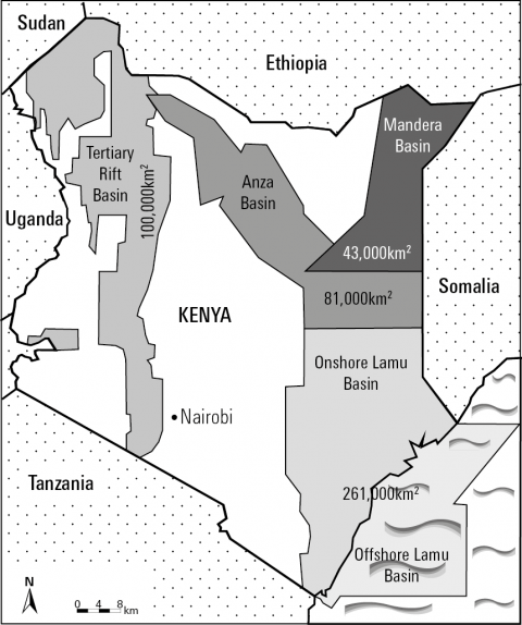 Figure 1 - Kenya's Four Hydrocarbon Basins