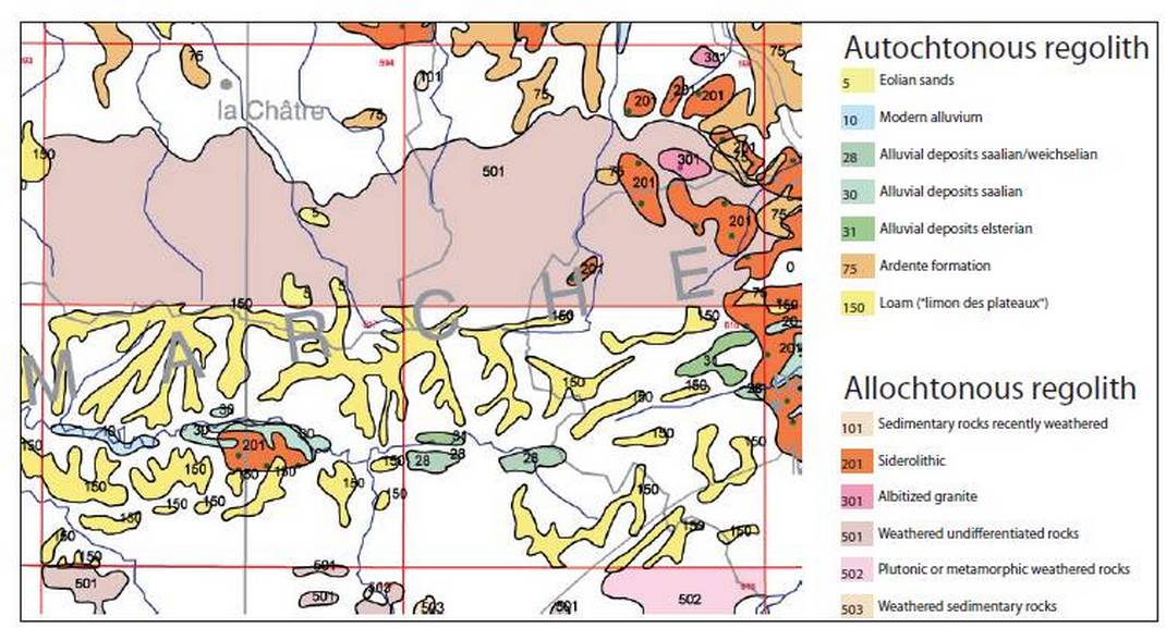 carte geologique rennes