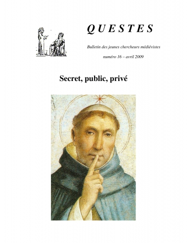 Couverture Questes n°16 Secret, public, privé