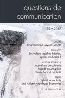 Couverture Questions de communication 32