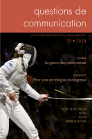 Couverture Questions de communication 33