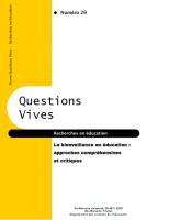 La bienveillance en éducation : approches compréhensives et critiques