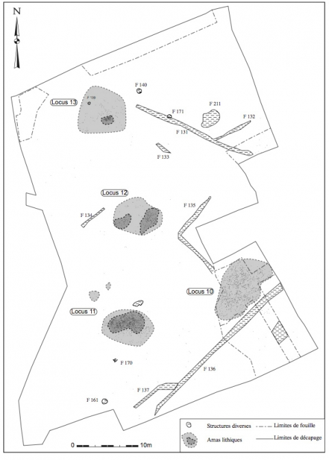 Figure 17 : Plan de la zone 8 (DAO J.-F. Nauleau).Figure 17: Plan of Zone 8.