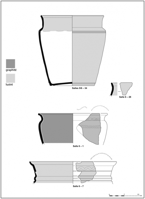 Figure 13 : Poteries issues de la salle           6.Figure 13 : Ceramics from the room           6.