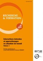 Couverture du numéro 83 de la revue Recherche & formation