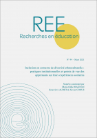 Couverture Recherches en éducation n° 44   2021