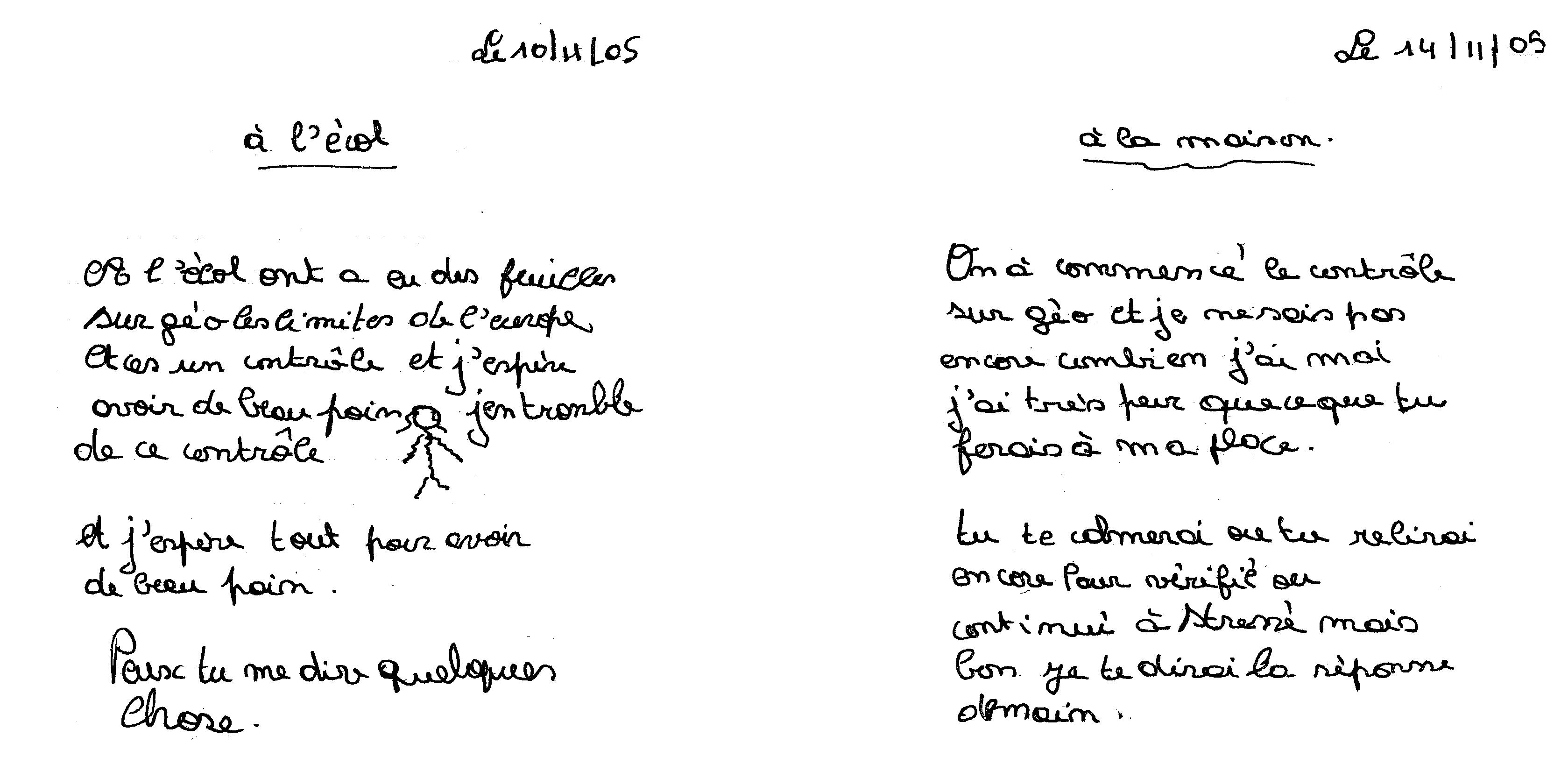 Exemple D Un Journal Intime Français - Exemple de Groupes