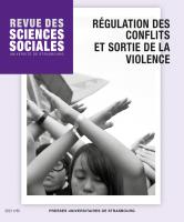 Couverture de Revue des sciences sociales, n°65   2021, Régulation des conflits et sortie de la violence