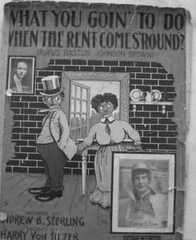 A racist caricature on a sheet music cover.
