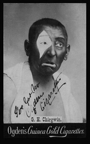 "G H Chirgwin ""The White-eyed Kaffir"" adapted for his own purposes the blackface tradition, and mixed it in with the cockney persona."