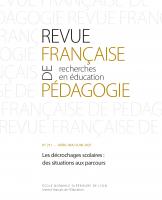 Couverture Revue française de pédagogie
