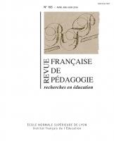Revue française de pédagogie no 195 (couverture)