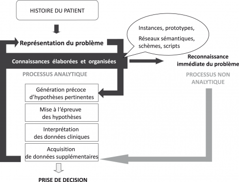 Figure 1. Processus de raisonnement clinique analytique et non analytique