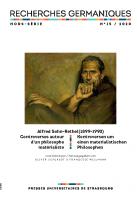 Recherches germaniques Hors série 15/2020 couverture
