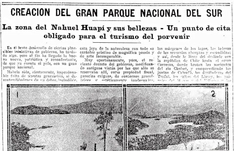 Photo 1. Journal La Razón, daté du 10 avril 1918