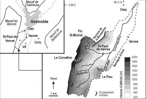 Figure 1. The Lavanchon catchment basin.