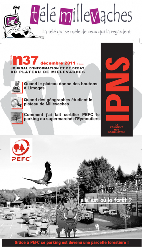 Figure 4: Banner of Télémillevache and front cover of the journal INPS