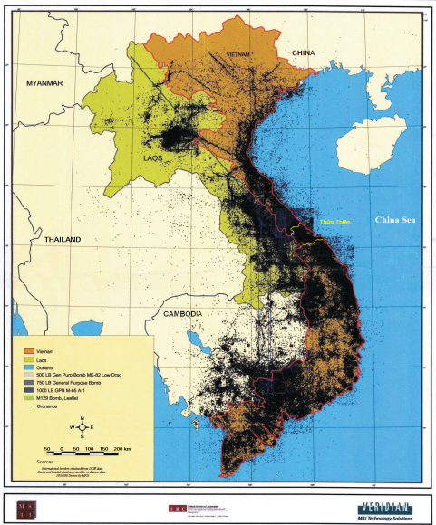 At the of the Vietnam War: Herbicides, Napalm and Bulldozers ... Indochina Map on vietnam french occupation map, panama 1959 map, africa 1959 map,