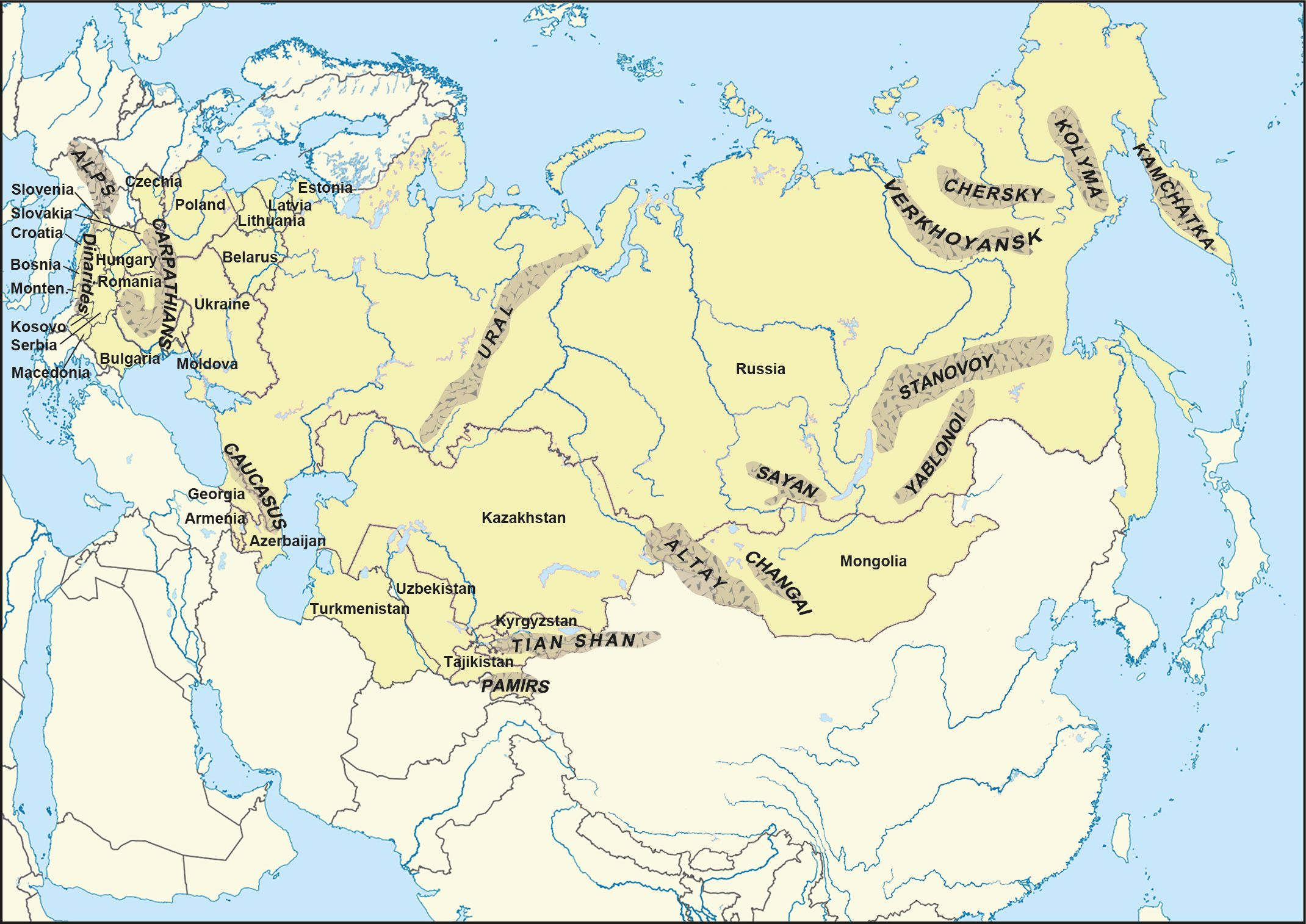 Map of eurasia with rivers gumiabroncs Images