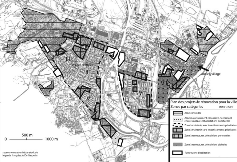 Figure 2 : le plan de rénovation de Eisenhütenstadt