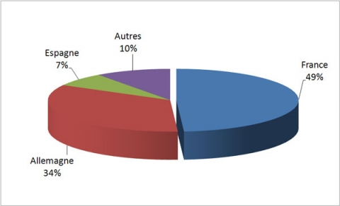 Figure 1 : Répartition du chiffre d'affaires de GECI International en 2009-2010