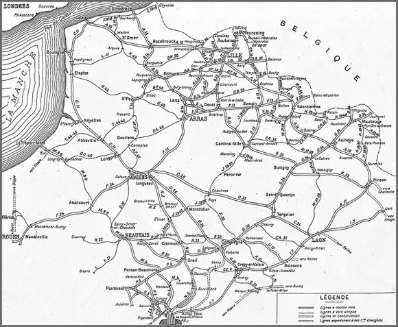 Carte Du Rseau Nord