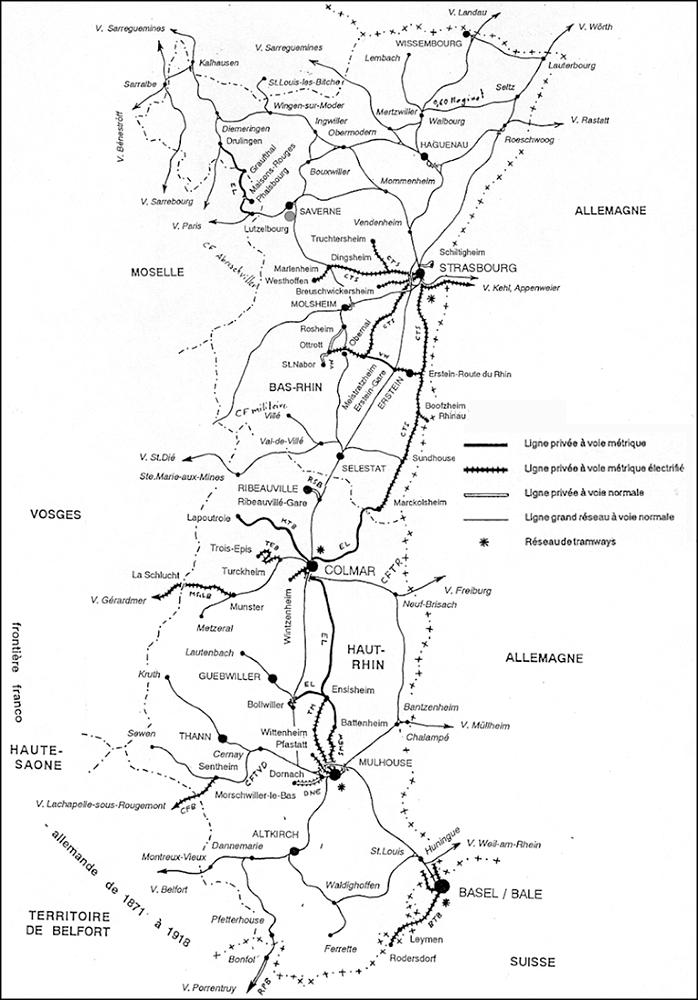 Carte Ferroviaire Alsace.Les Chemins De Fer Secondaires D Alsace Hier Et Demain