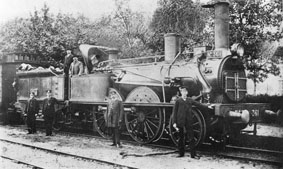 Figure 5. Locomotive 120 361 à Pouxeux en 1886.