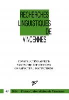 Recherches Linguistiques de Vincennes - n° 43