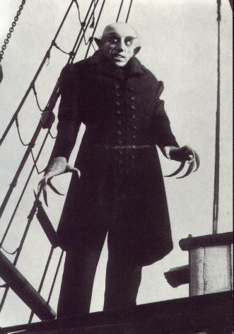 Max Schreck as Count Orlock, the Nosferatu (1922):