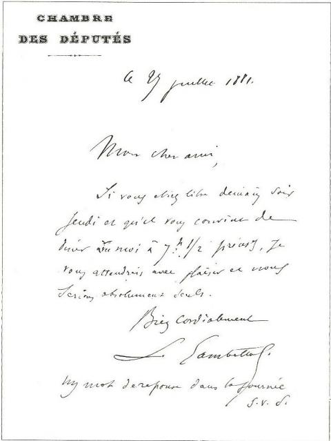 modele de lettre amitié La vie et l'œuvre de Charles de Freycià travers les archives  modele de lettre amitié