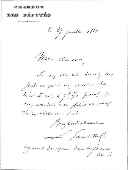 lettre de démission manuscrite La vie et l'œuvre de Charles de Freycià travers les archives  lettre de démission manuscrite
