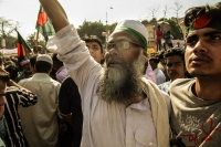 Celebrations following the ICT verdict for Delwar Hussain Sayedee