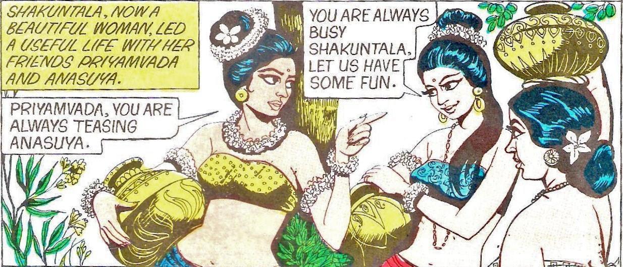 The Amar Chitra Katha Shakuntala Pin Up Or Role Model