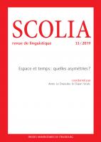 Couverture Scolia, 33 | 2019