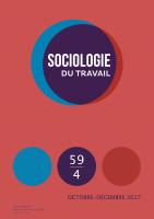 Sociologie du travail 59 (4) : couverture