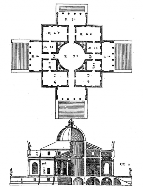 Illustration 1 : Villa Rotonda, 1566-1571, Andrea Palladio