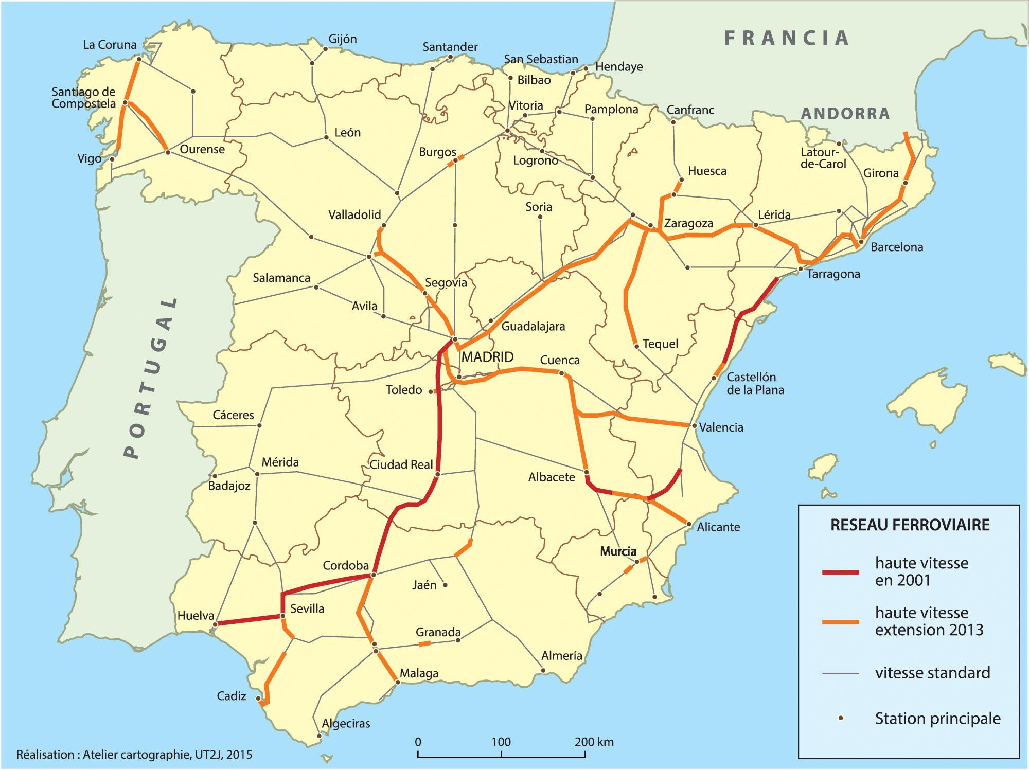 Carte Ferroviaire Andalousie.Logiques Urbaines Et Politiques De Transport En Espagne Du
