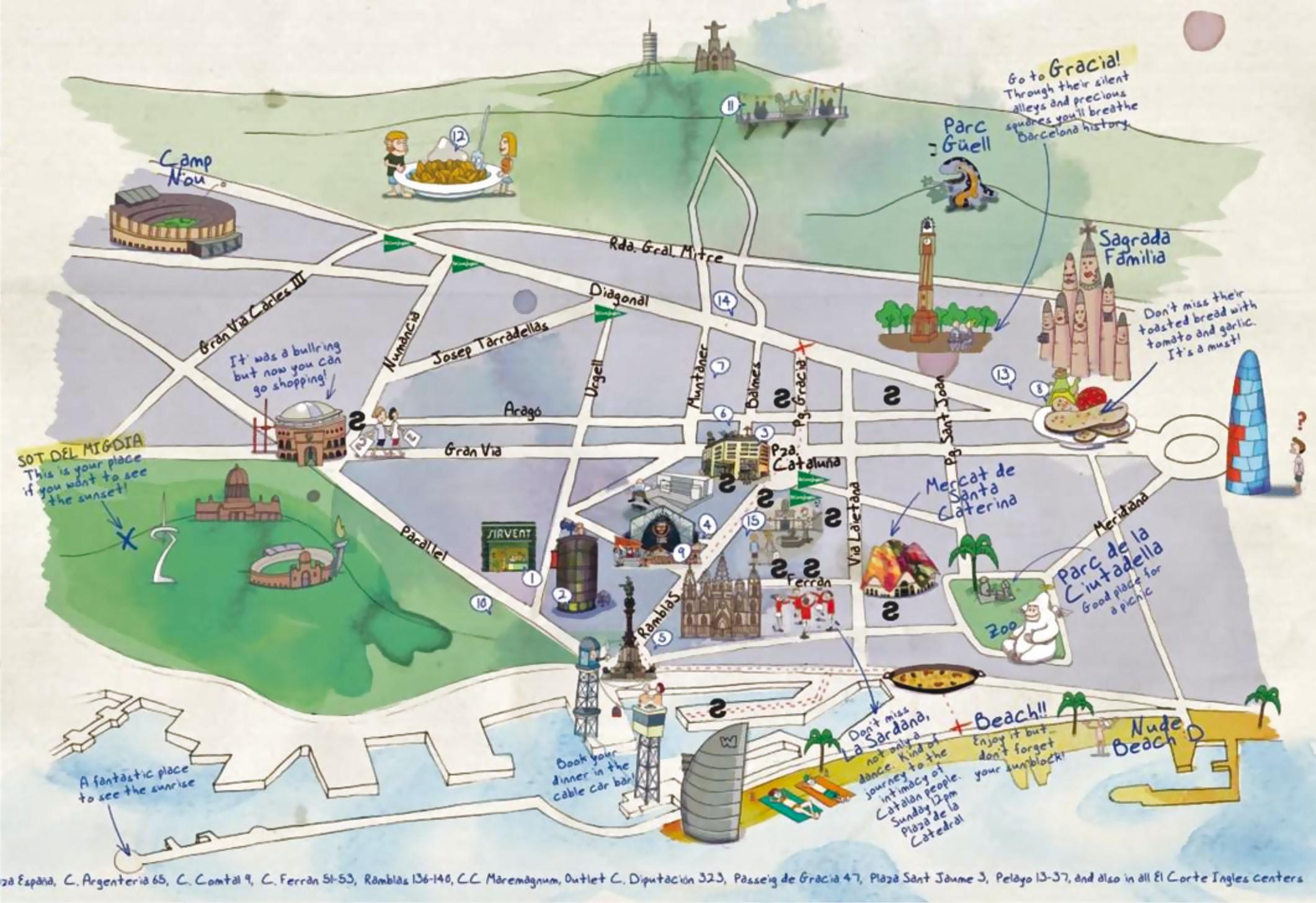 Carte Touristique De Barcelone.Les Politiques Touristiques Decentralisees En Espagne