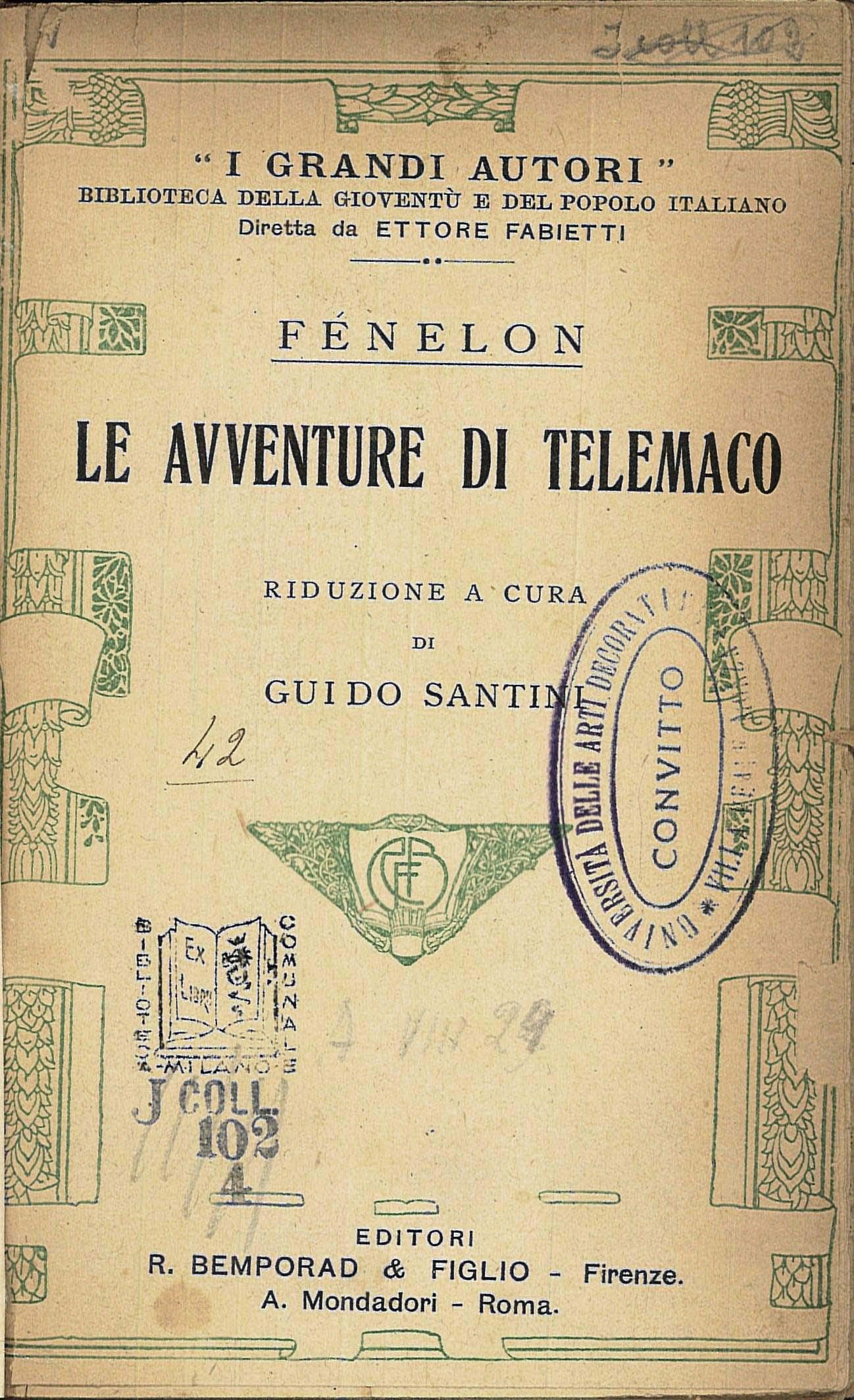"""Comme Votre Maison Roma grandi autori"""" and """"al cuore"""". ettore fabietti, bemporad"""