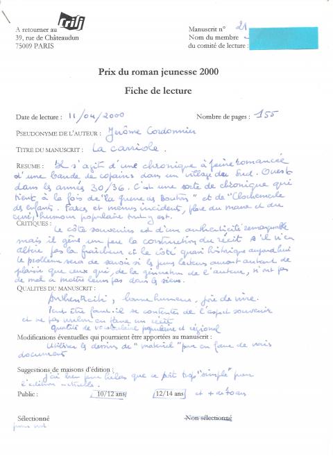 Exemple De Fiche De Lecture Dun Roman - Exemple de Groupes